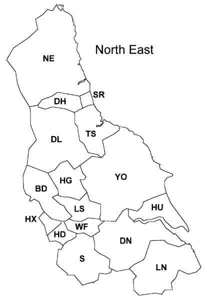 Map Of Uk North East.Evox Facilities North East Postcode Area Map